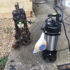 sewage sump pump replacement | The New Forest | Lymington